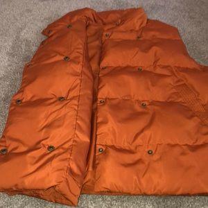 Gibson Latimer Jackets & Coats - (Gibson Latimer) orange puffy vest NWOT